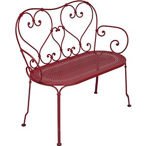 1900 by Fermob Banquette rouge piment