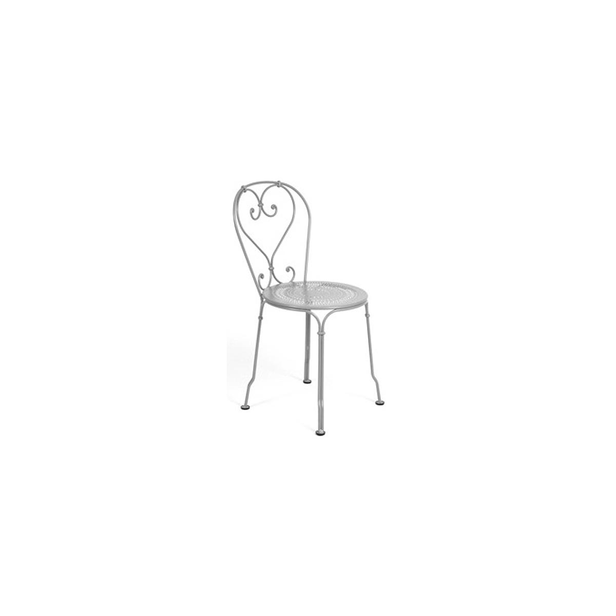 1900 by Fermob Chaise gris métal