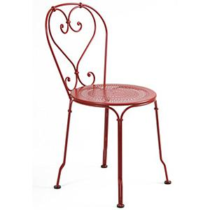 1900 by Fermob Chaise rouge coquelicot
