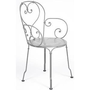1900 by Fermob Fauteuil gris métal