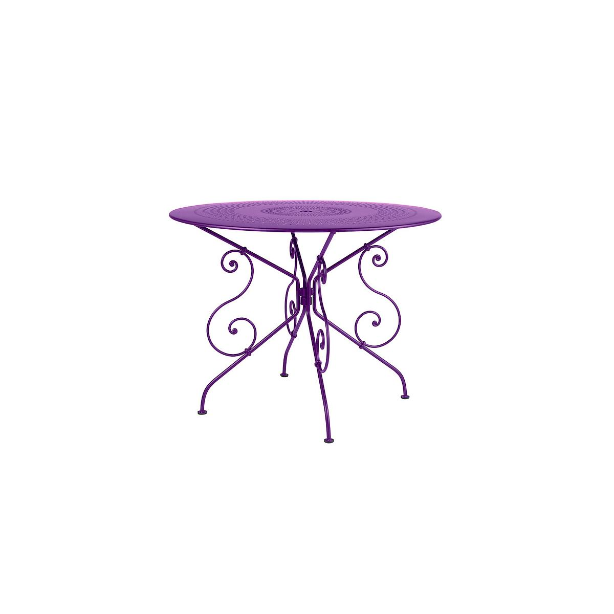 1900 by Fermob Table ronde 96 cm aubergine