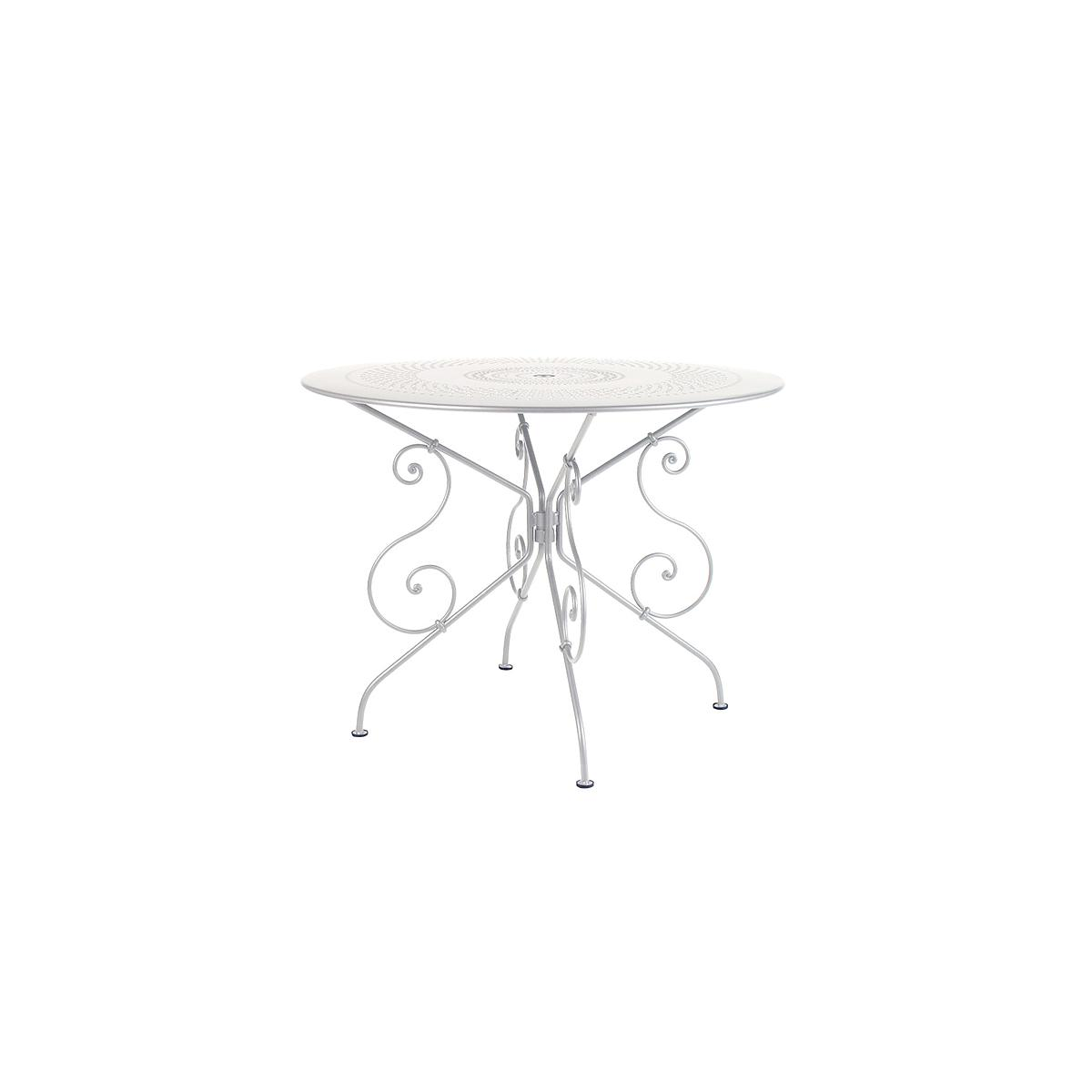 1900 by Fermob Table ronde 96 cm blanc coton