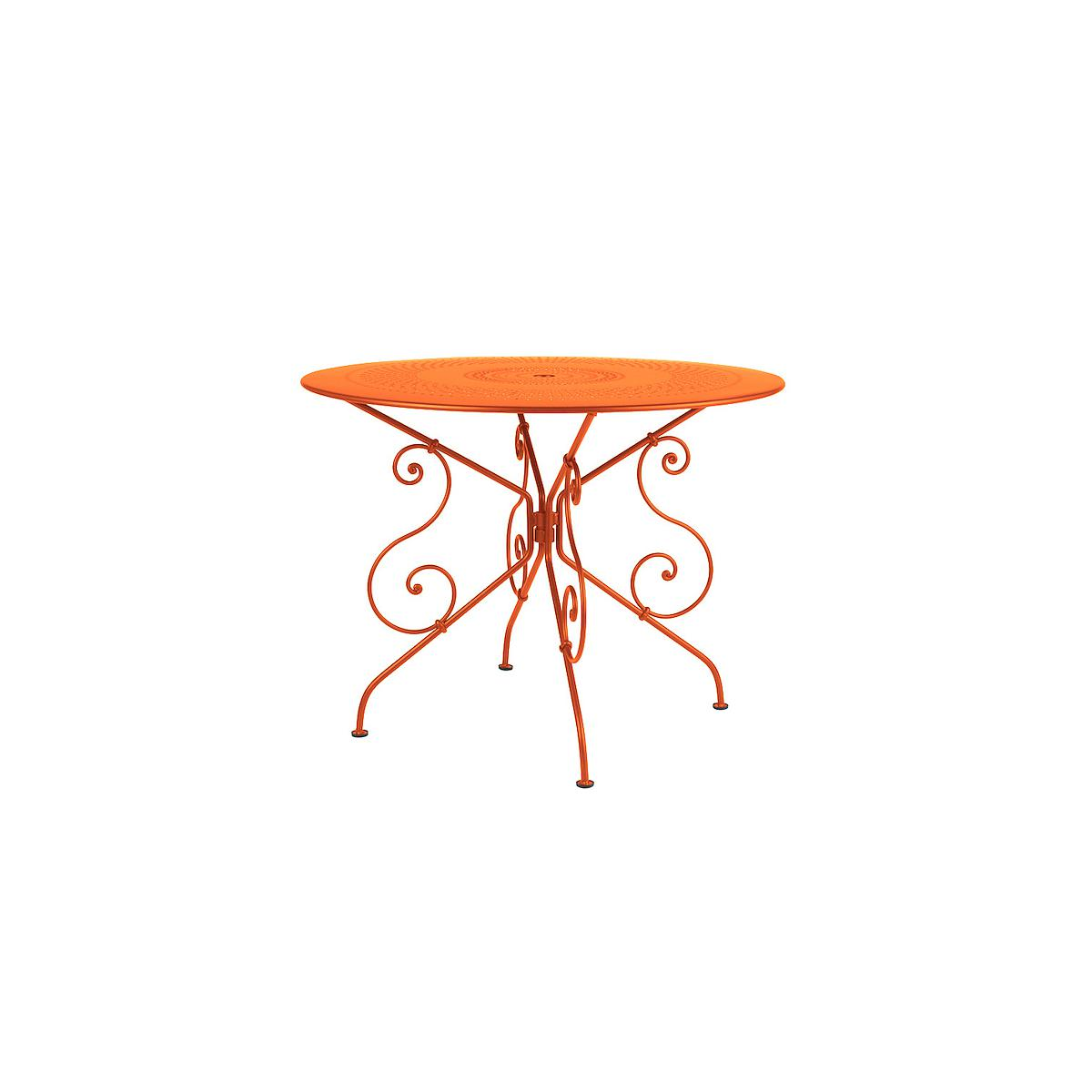 1900 by Fermob Table ronde 96 cm carotte