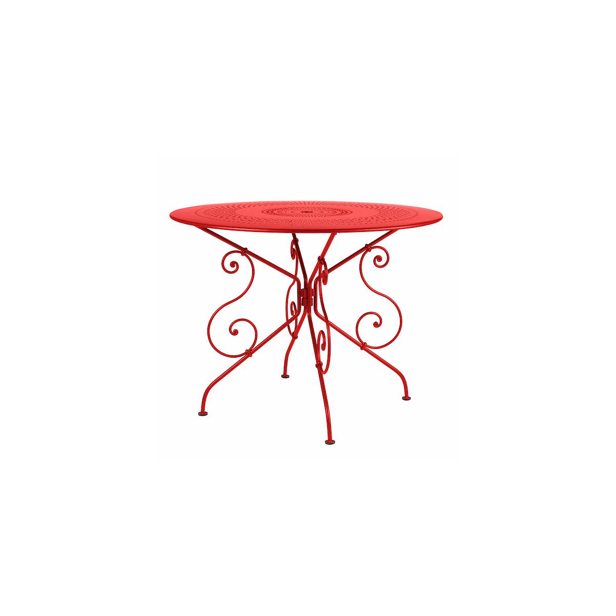 1900 by Fermob Table ronde 96 cm coquelicot