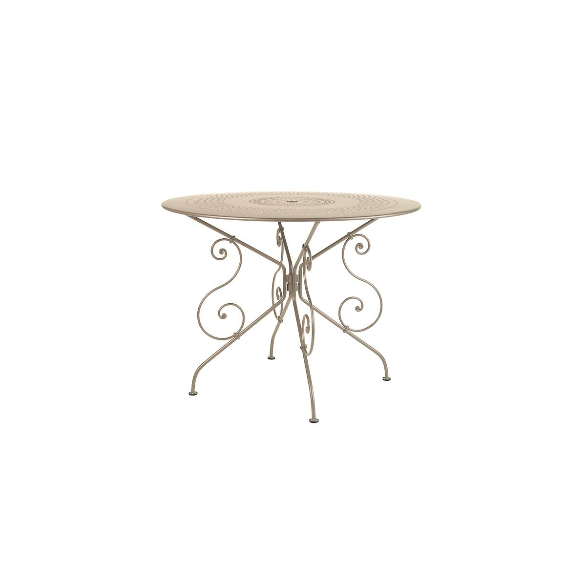 1900 by Fermob Table ronde 96 cm muscade