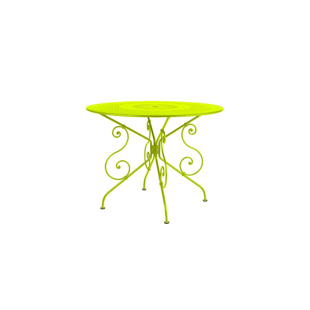 1900 by Fermob Table ronde 96cm verveine