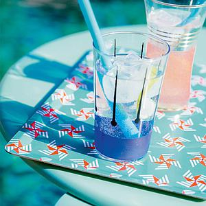 ALIZE by Fermob Table basse Bleu lagune