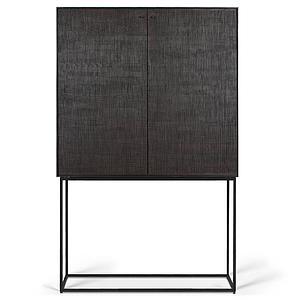 Armoire 102cm GROOVES Ethnicraft teck noir