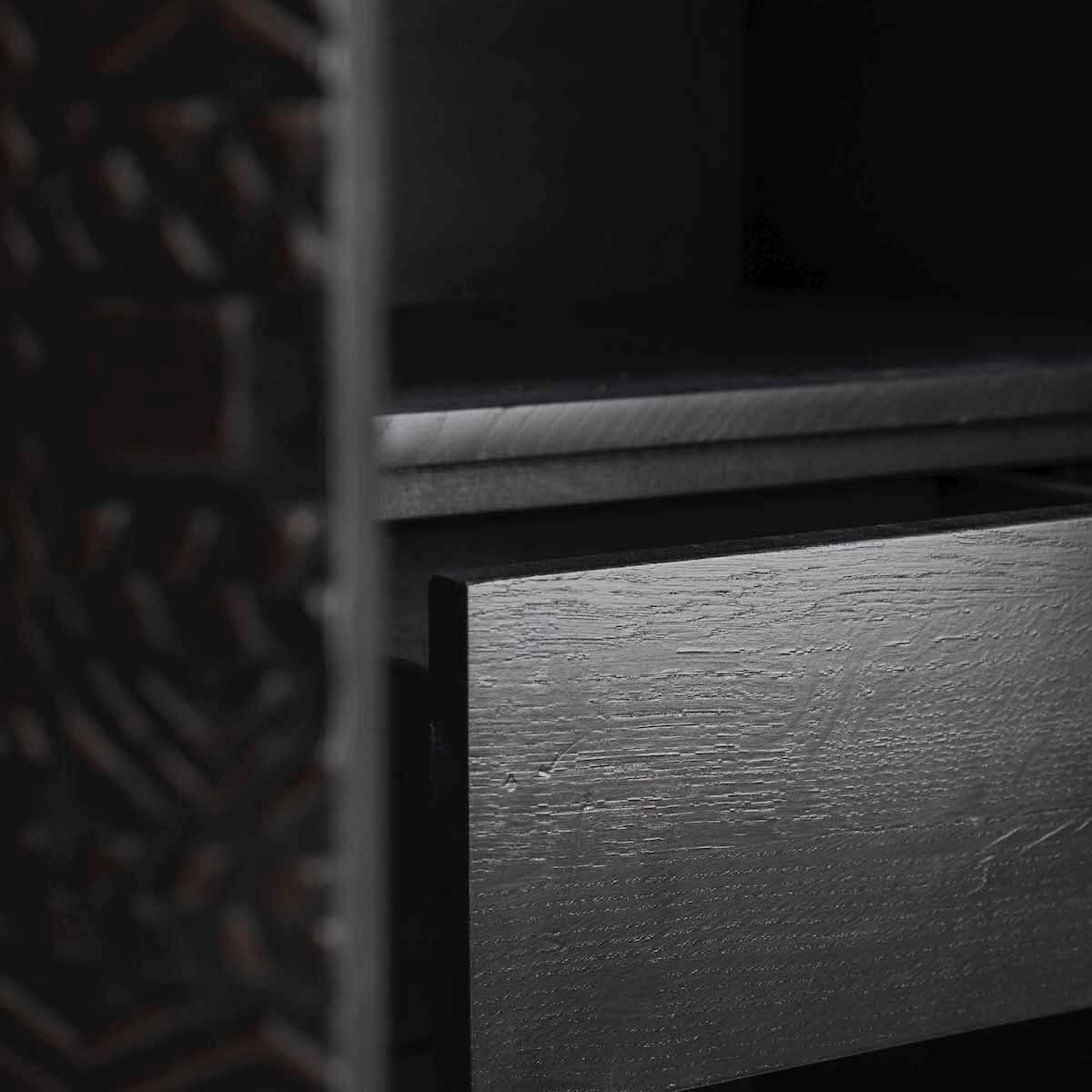 Armoire 180cm TABWA Ethnicraft teck noir