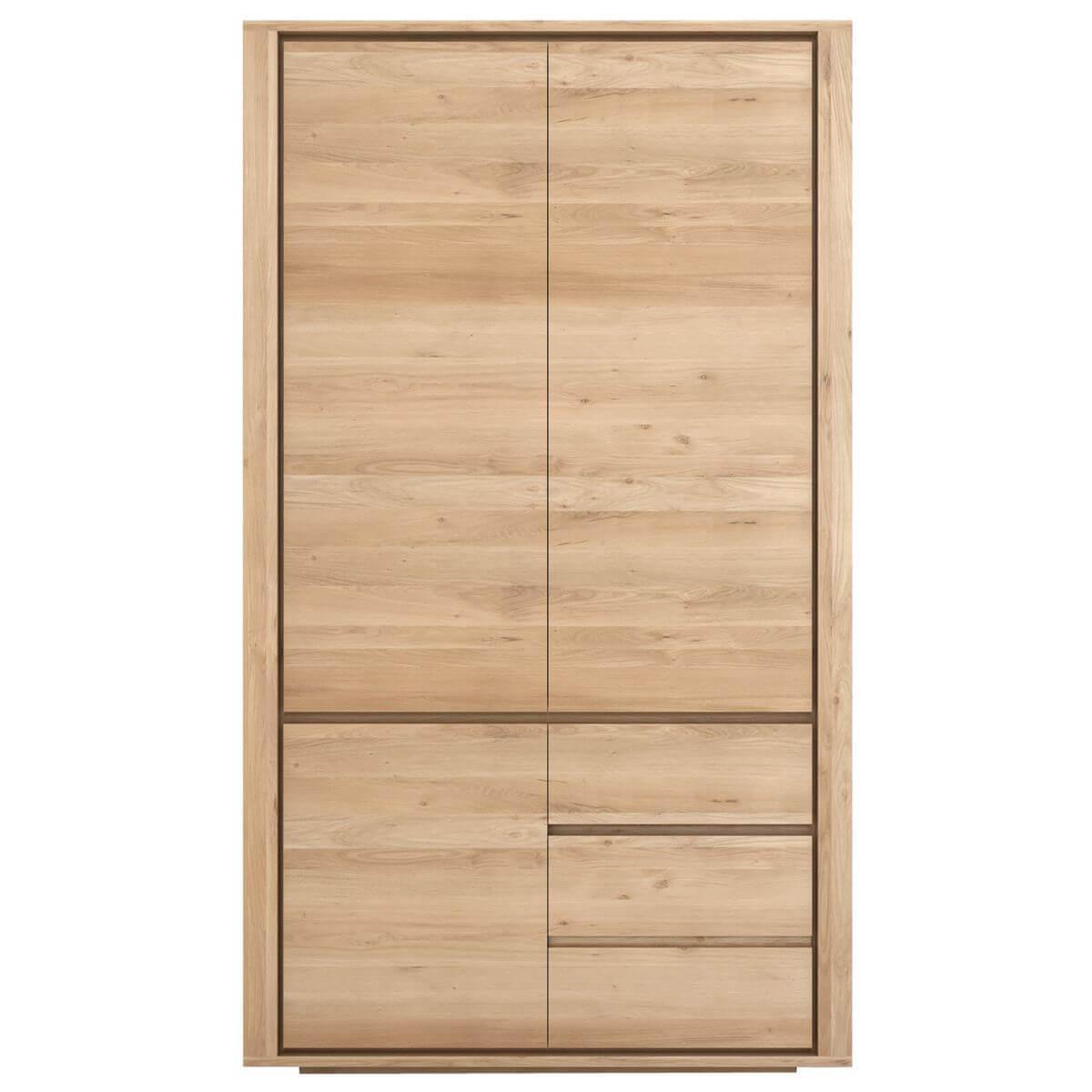 Armoire 3 portes-2 tiroirs SHADOW Ethnicraft chêne