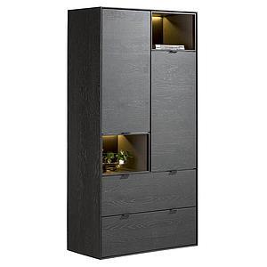 Armoire 90cm ELEMENTS Xooon onyx