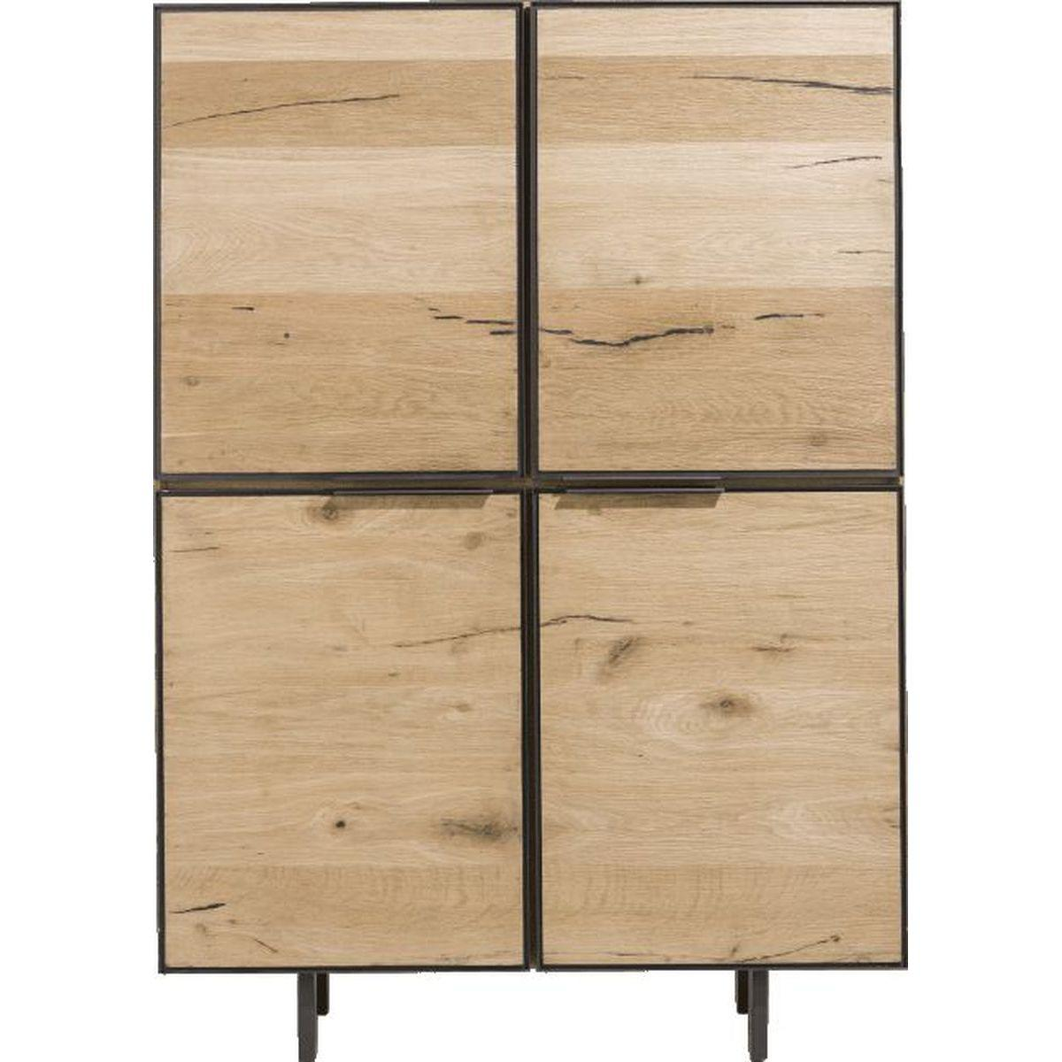 Armoire PEDRO H&H 4 portes 2 tiroirs Inside