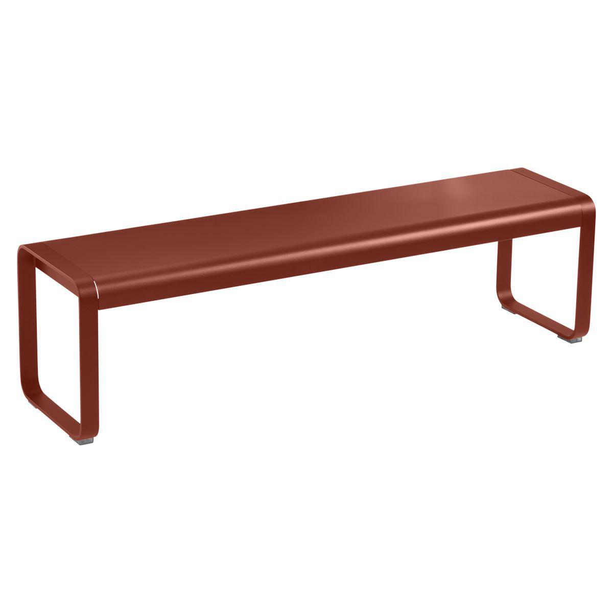 Banc BELLEVIE Fermob rouge ocre