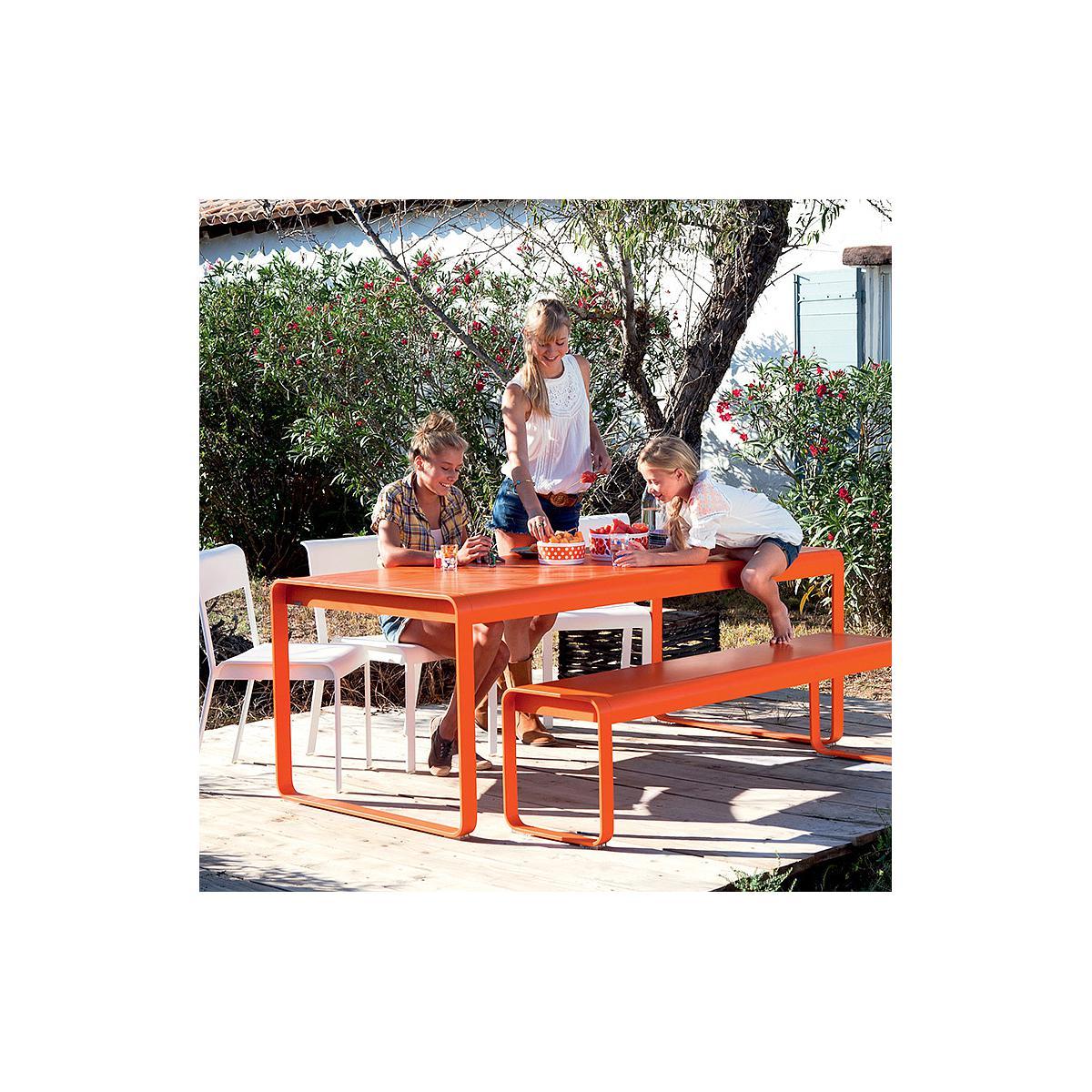 Banc de jardin BELLEVIE Fermob capucine Orange capucine