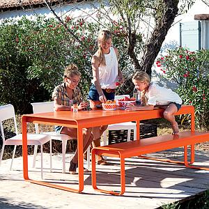 Banc de jardin BELLEVIE Fermob Orange carotte