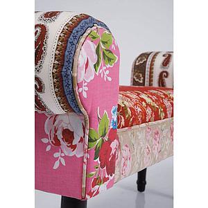 Banc PATCHWORK Kare Design rouge