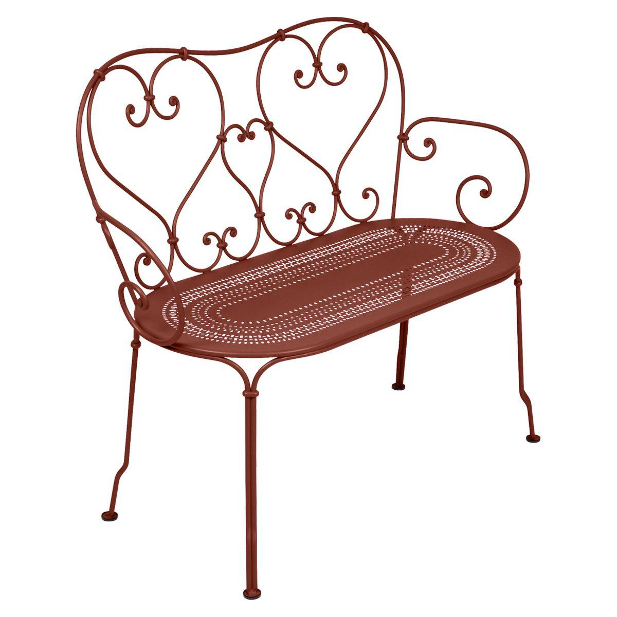 Banquette 1900 Fermob rouge ocre