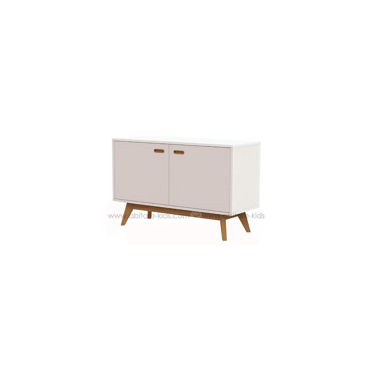 BESS by Tenzo Dressoir blanc et chêne 114 cm