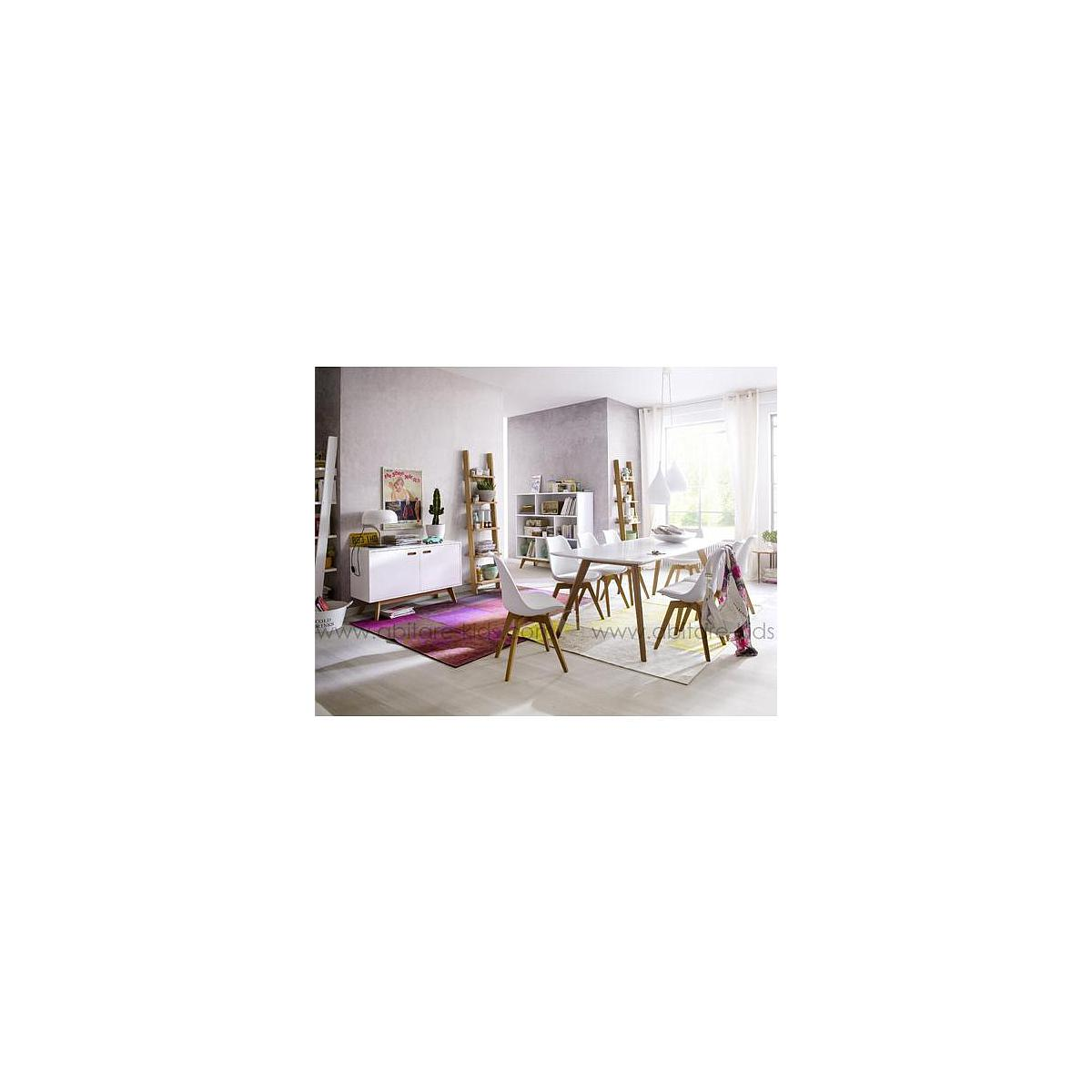 BESS by Tenzo Table 220 cm blanc et chêne
