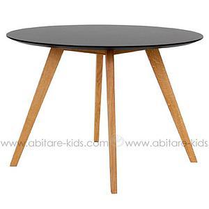 BESS by Tenzo Table ronde noir et chêne