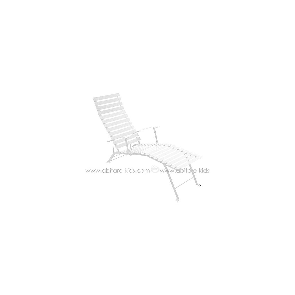 BISTRO by Fermob Chaise longue blanc coton