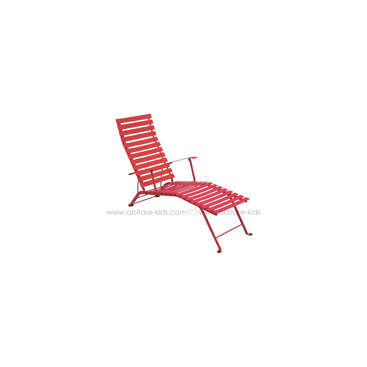 BISTRO by Fermob Chaise longue coquelicot