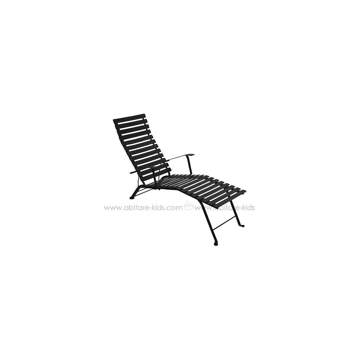 BISTRO by Fermob Chaise longue réglisse