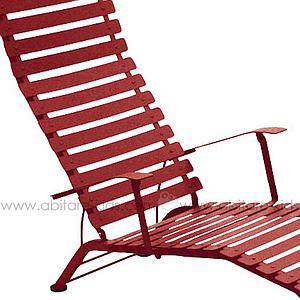 BISTRO by Fermob Chaise longue rouge piment