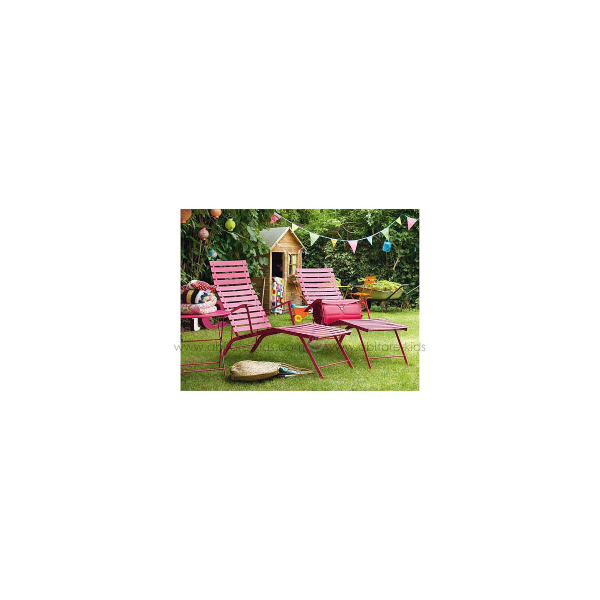 BISTRO  by Fermob Coussin pour chaise longue violet prune