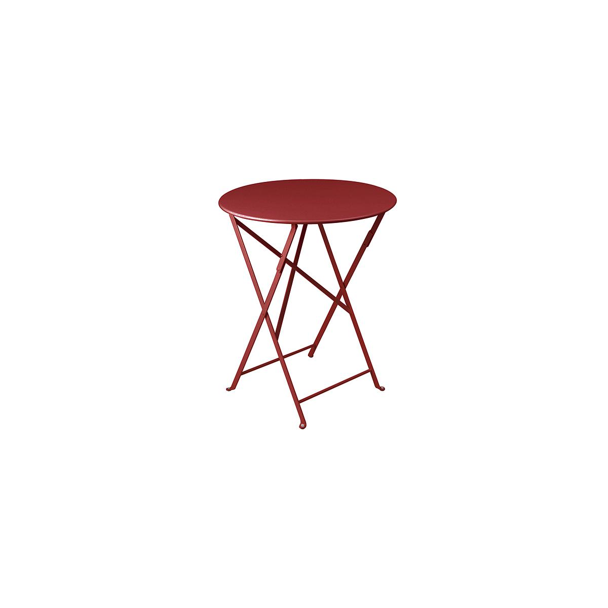BISTRO by Fermob Table ronde 60cm Rouge piment