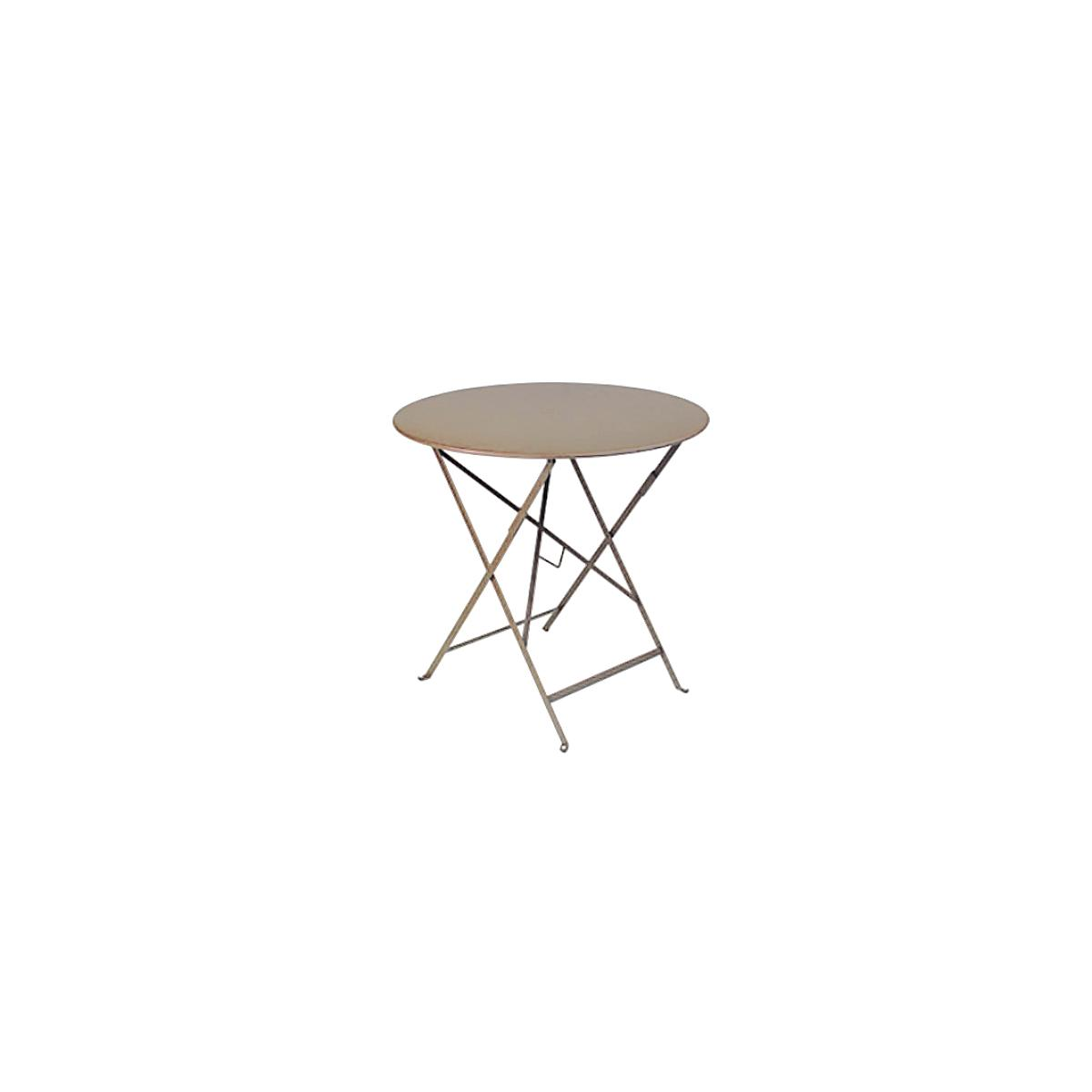 BISTRO by Fermob Table ronde brun muscade
