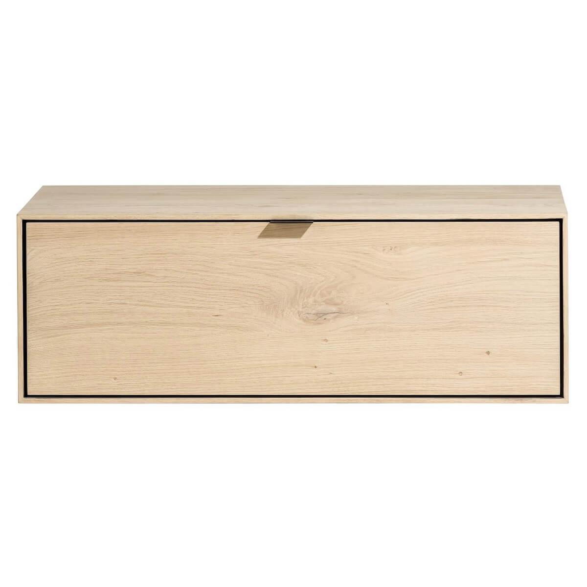 Box 30x90cm 1 porte rabattante ELEMENTS Xooon natural