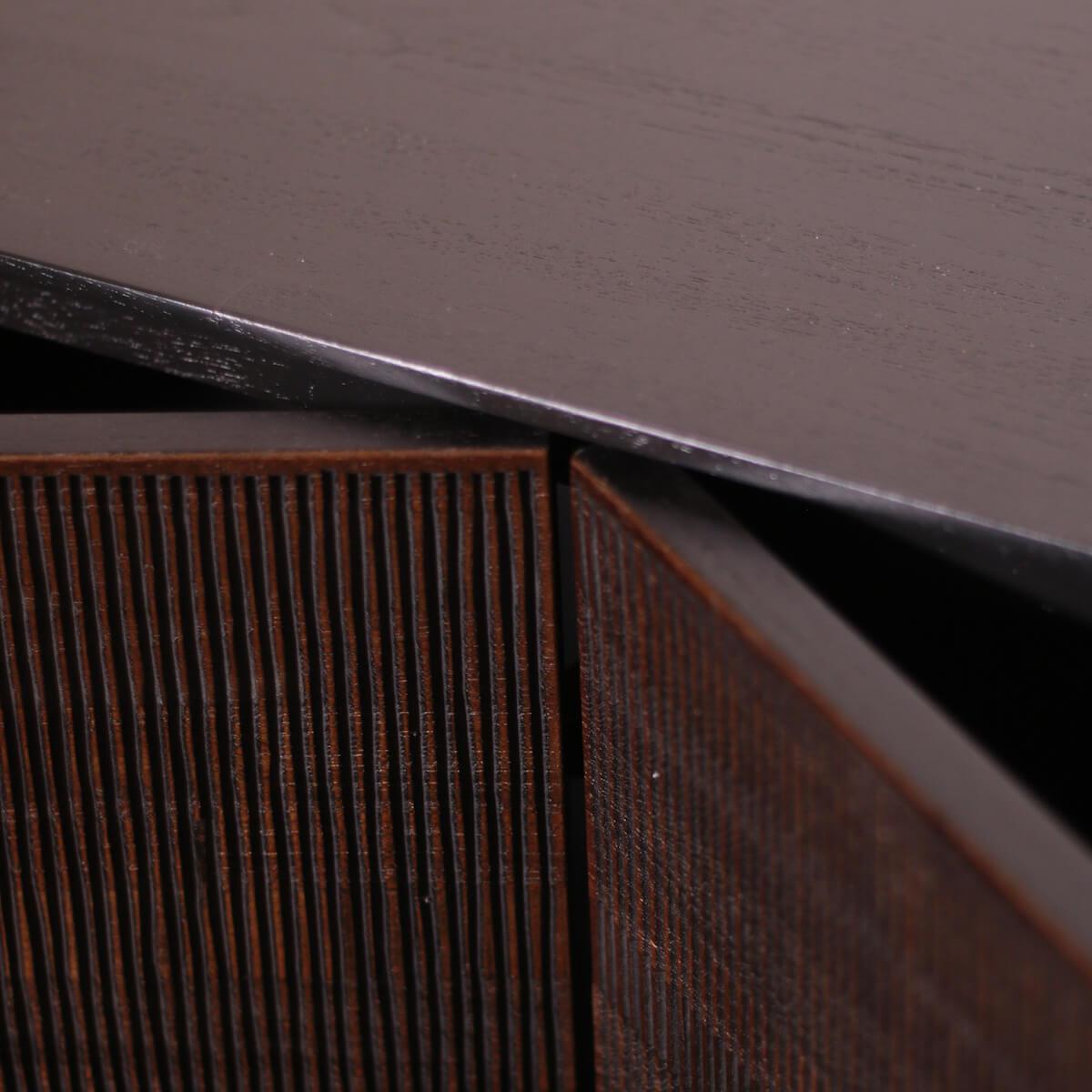 Buffet 152cm GROOVES Ethnicraft teck noir