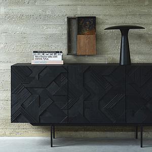 Buffet 168cm GRAPHIC Ethnicraft teck noir