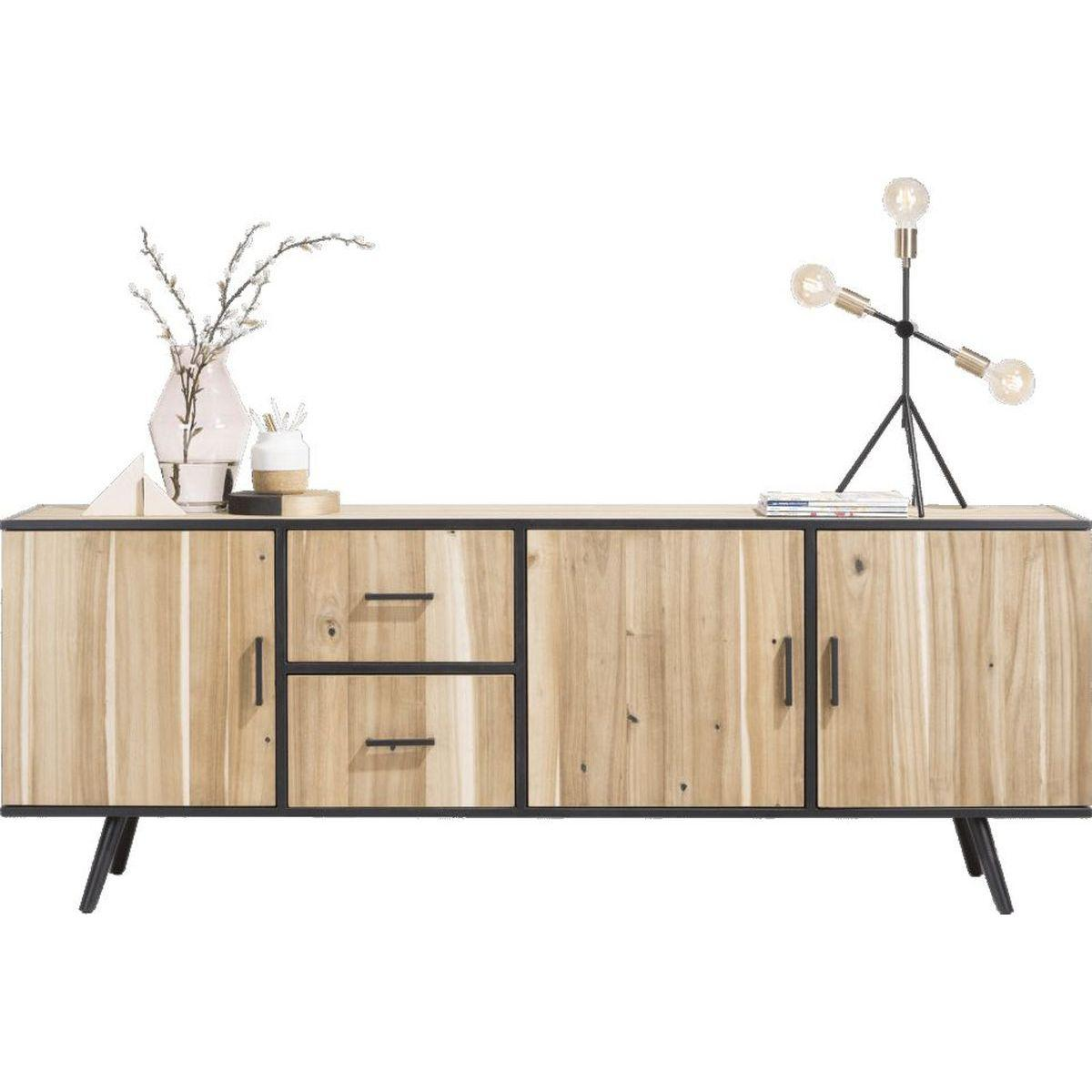 Meuble tv kinna xooon 190cm en bois tramwood abitare living for Meuble xooon