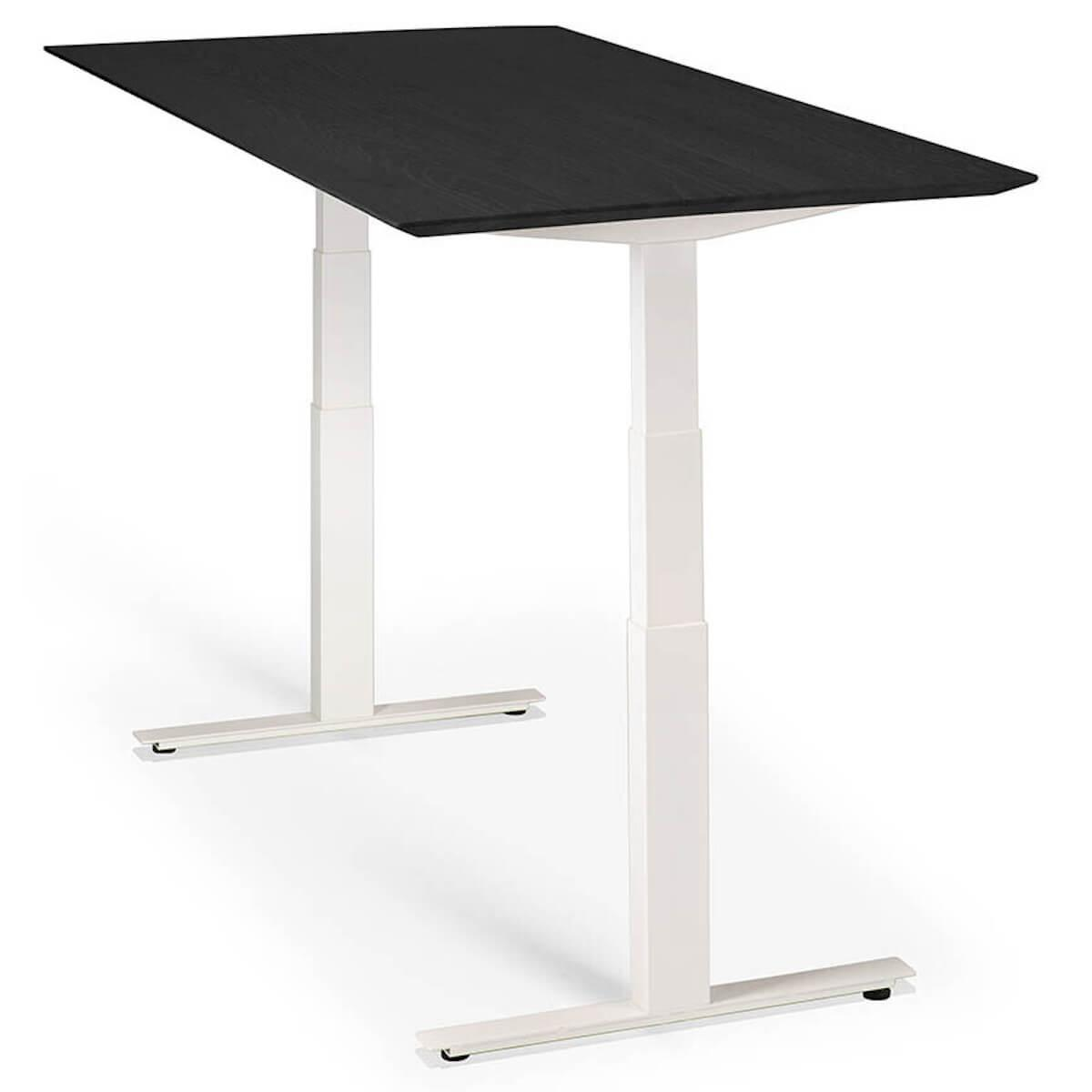 Bureau ajustable-table top 90x200cm BOK Ethnicraft chêne noir