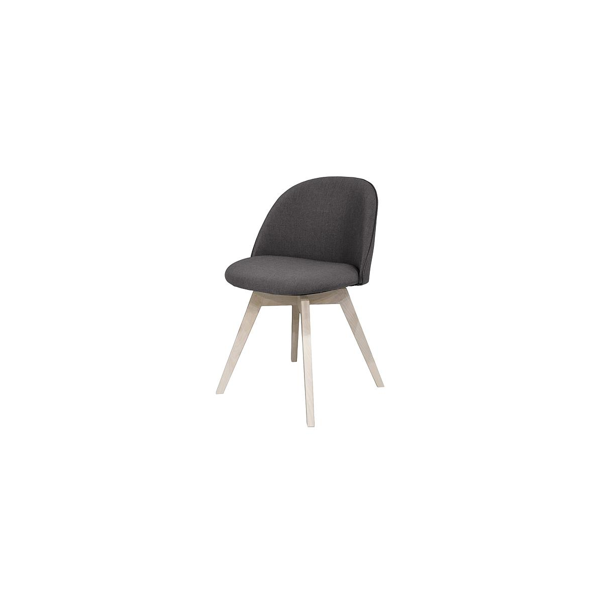 C-BAR by Tenzo Chaise Ally-Bess Assise: anthracite, Pied: blanc cérusé