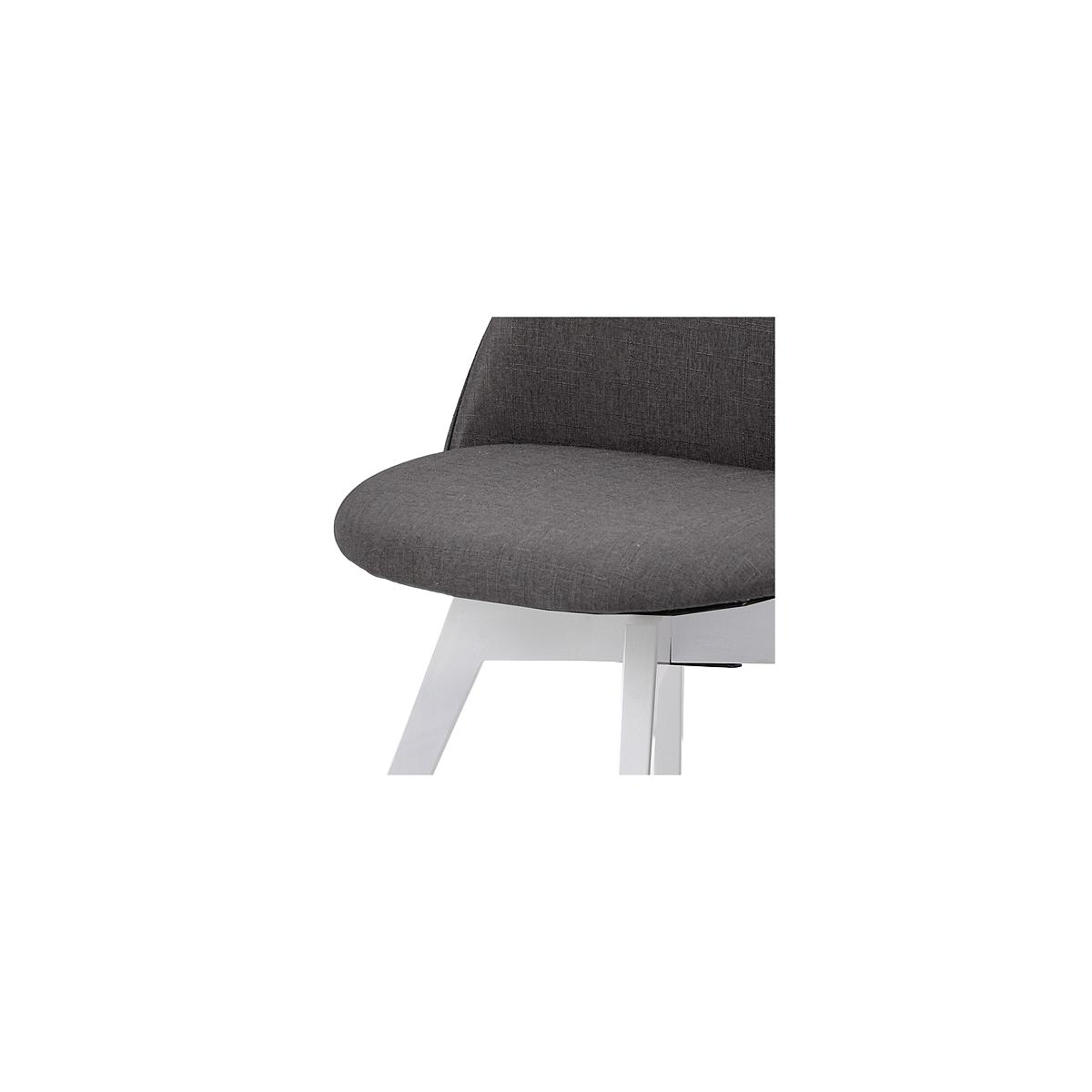 C-BAR by Tenzo Chaise Ally-Bess Assise: anthracite, Pied: blanc