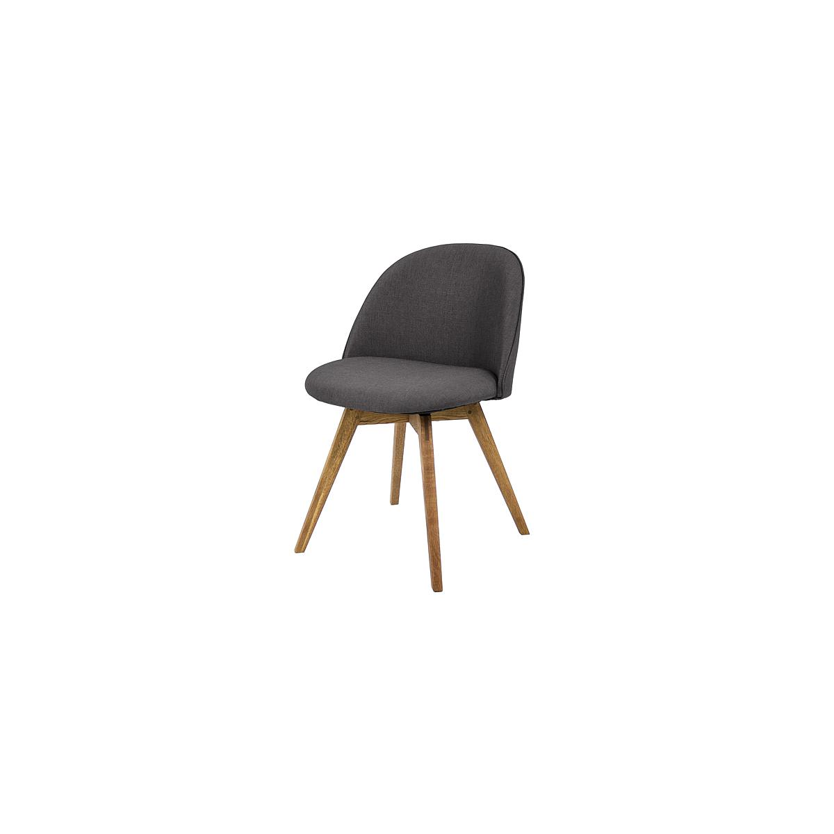 C-BAR by Tenzo Chaise Ally-Bess Assise: anthracite, Pied: chêne