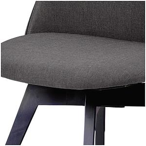 C-BAR by Tenzo Chaise Ally-Bess Assise: anthracite, Pied: noir