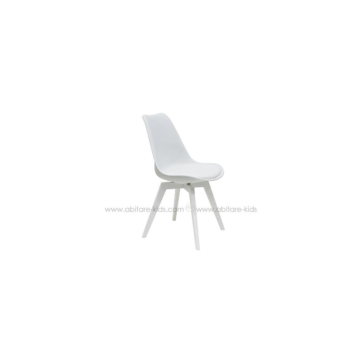 C-BAR by Tenzo Chaise Gina-Bess Assise blanche et pied blanc