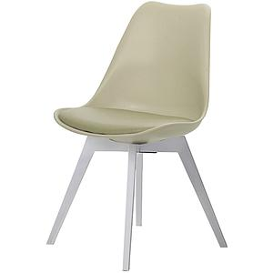 C-BAR by Tenzo Chaise Gina-Bess Assise: gris ton chaud, Pied: blanc