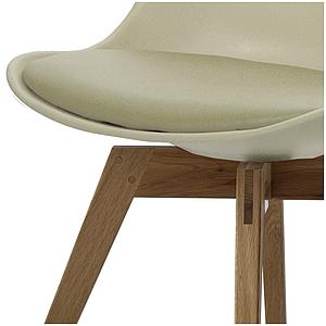 C-BAR by Tenzo Chaise Gina-Bess Assise: gris ton chaud, Pied: chêne