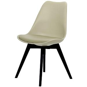 C-BAR by Tenzo Chaise Gina-Bess Assise: gris ton chaud, Pied: noir