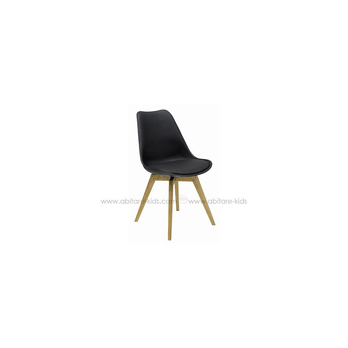 C-BAR by Tenzo Chaise Gina-Bess Assise: noir, Pied: chêne