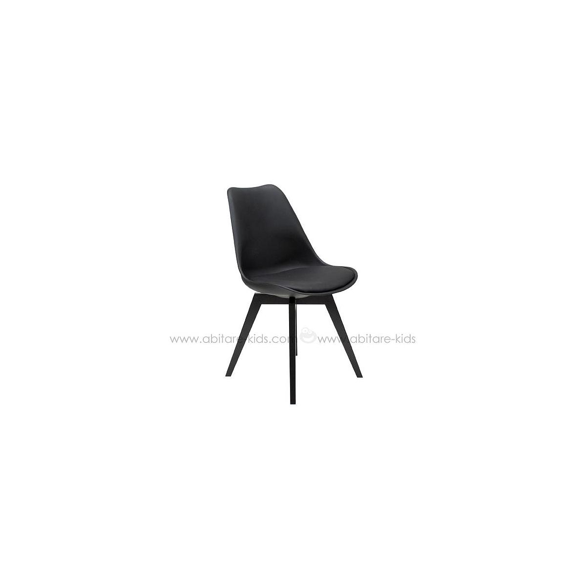 C-BAR by Tenzo Chaise Gina-Bess Assise noire et pied noir