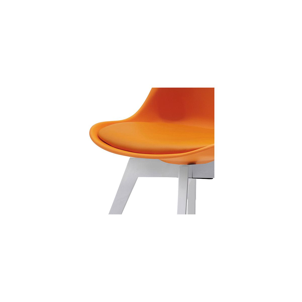 C-BAR by Tenzo Chaise Gina-Bess Assise: orange, Pied: blanc