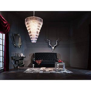 Canapé 190cm BAROCCO Kare Design noir