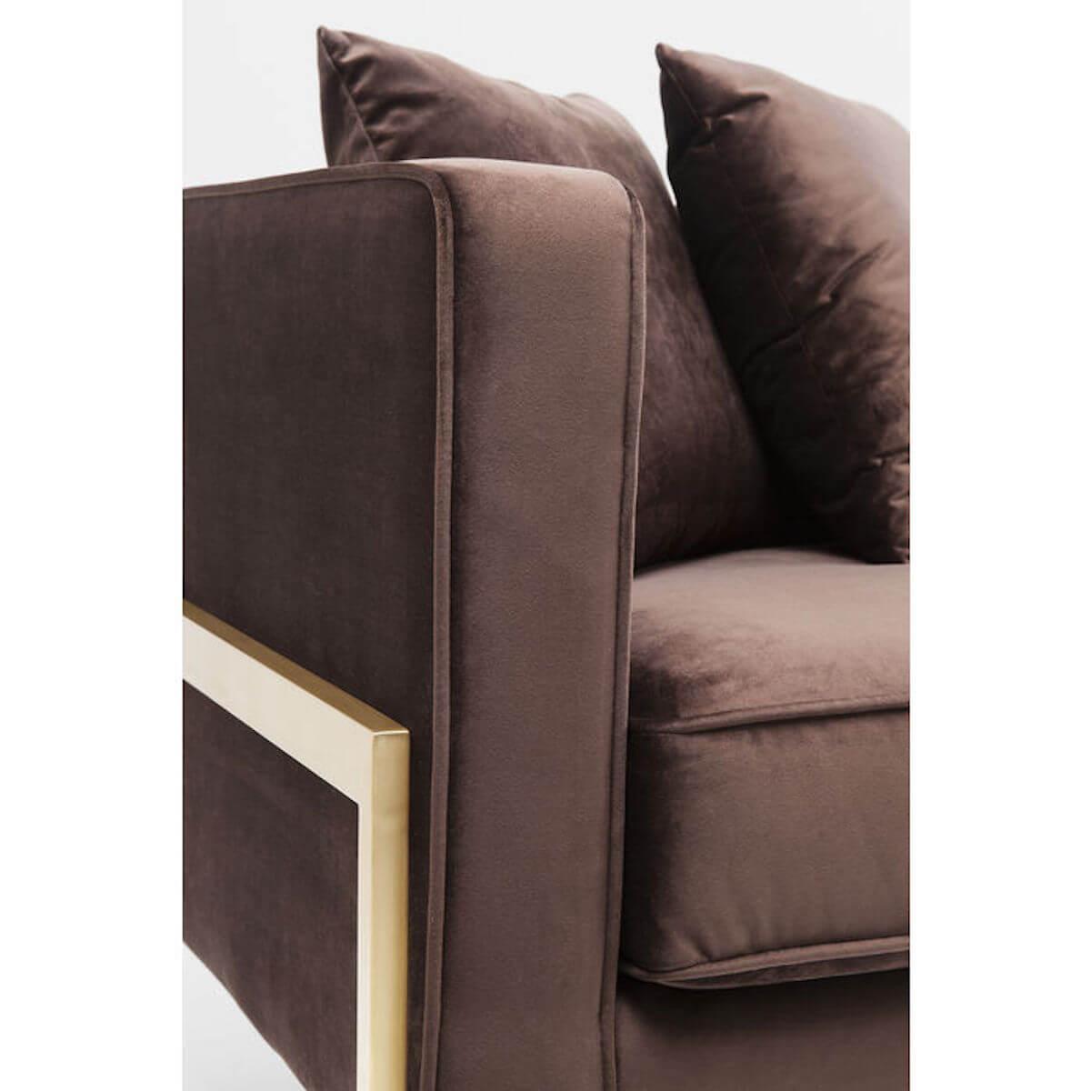 Canapé 3 places LOFT Kare Design marron