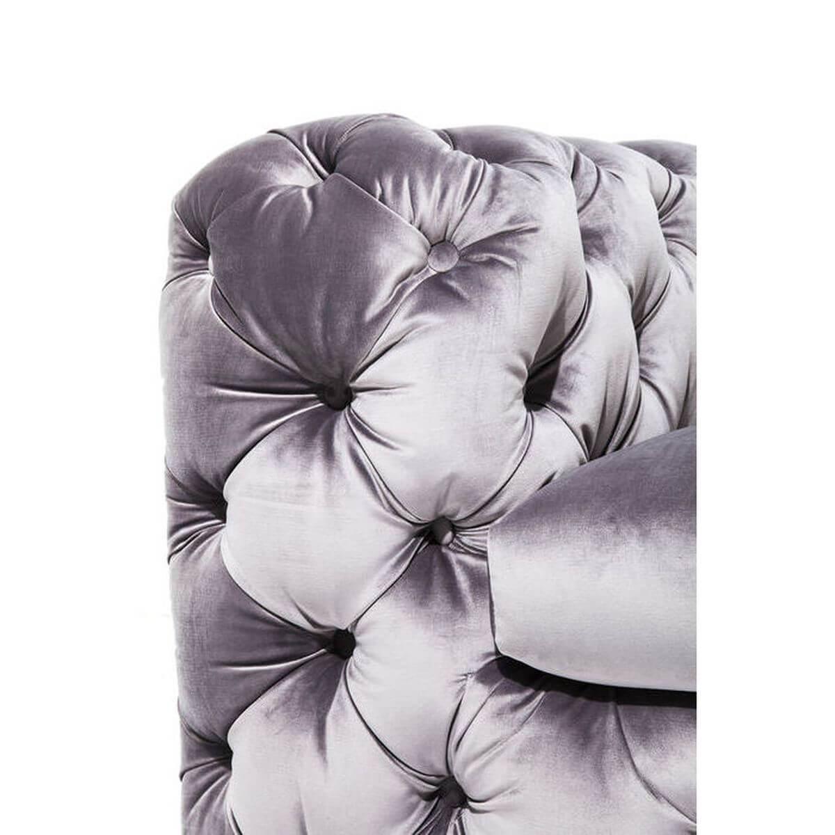 Canapé 3 places MY DESIRE Kare Design velvet gris